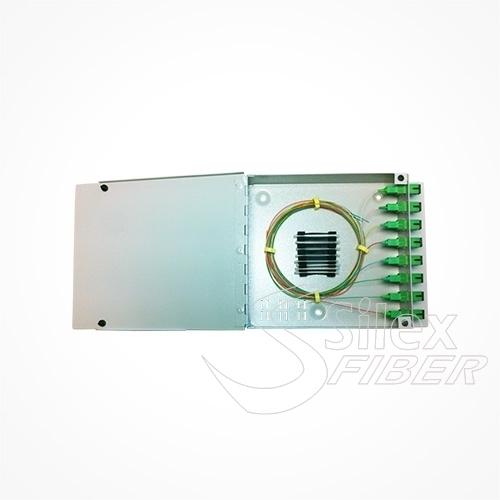 Caja metálica para empalme y distribución de Fibra Optica