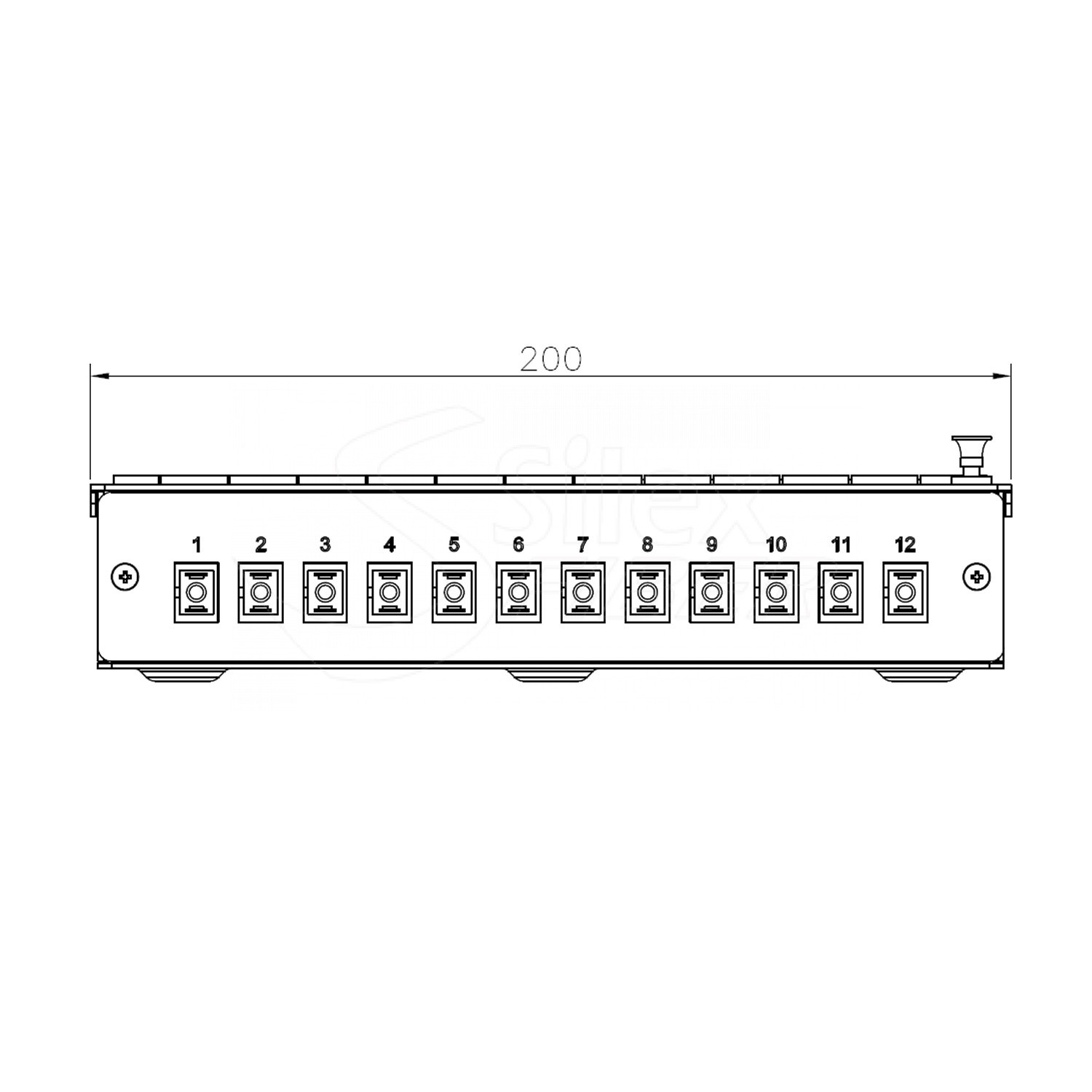 Caja Metalica Patchpanel Mural y Carril DIN SLXBOX-Y 12SC-24LC