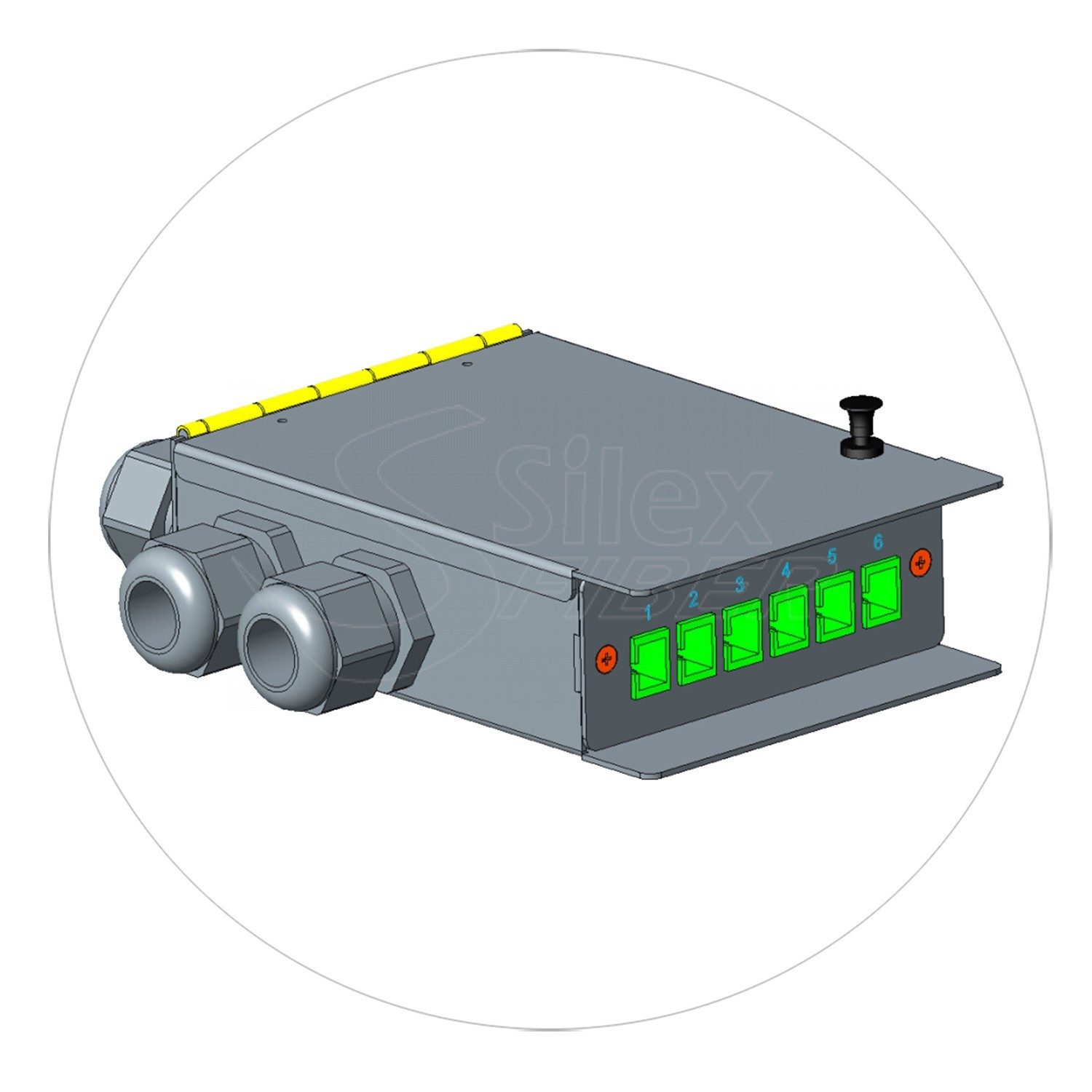Caja Metalica Patchpanel Mural y Carril DIN SLXBOX-Y 6SC-12LC