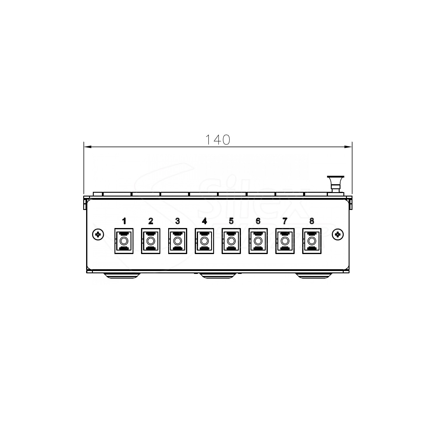 Caja Metalica Patchpanel Mural y Carril DIN SLXBOX-Y 8SC-16LC