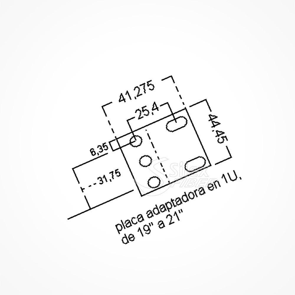 adaptador rack de 19 u0026quot  a 21 u0026quot