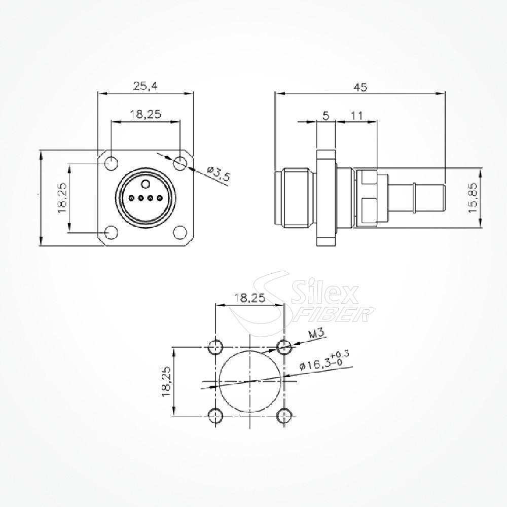 Conectores ODC 2 y 4 Fibras Calidad Garantizada