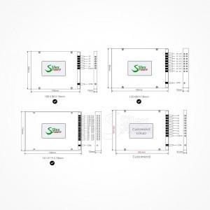Divisor Splitter Optico PLC Box ABS ST PC Multimodo