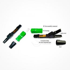 Conector Montaje Rapido y Manual SC APC SLXQuick