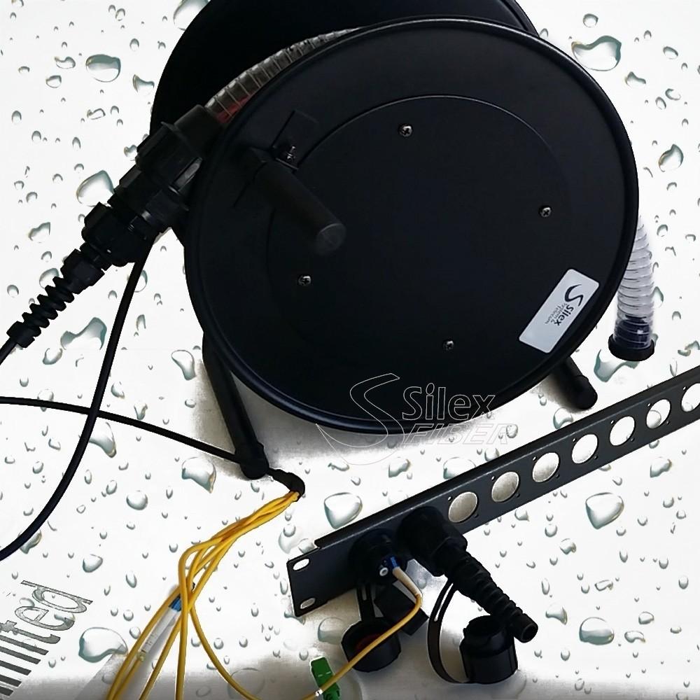 Protección para conectores de fibra óptica