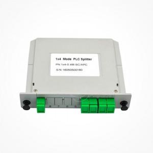 Divisor Splitter Optico PLC CASSETTE 1x4 SC PC