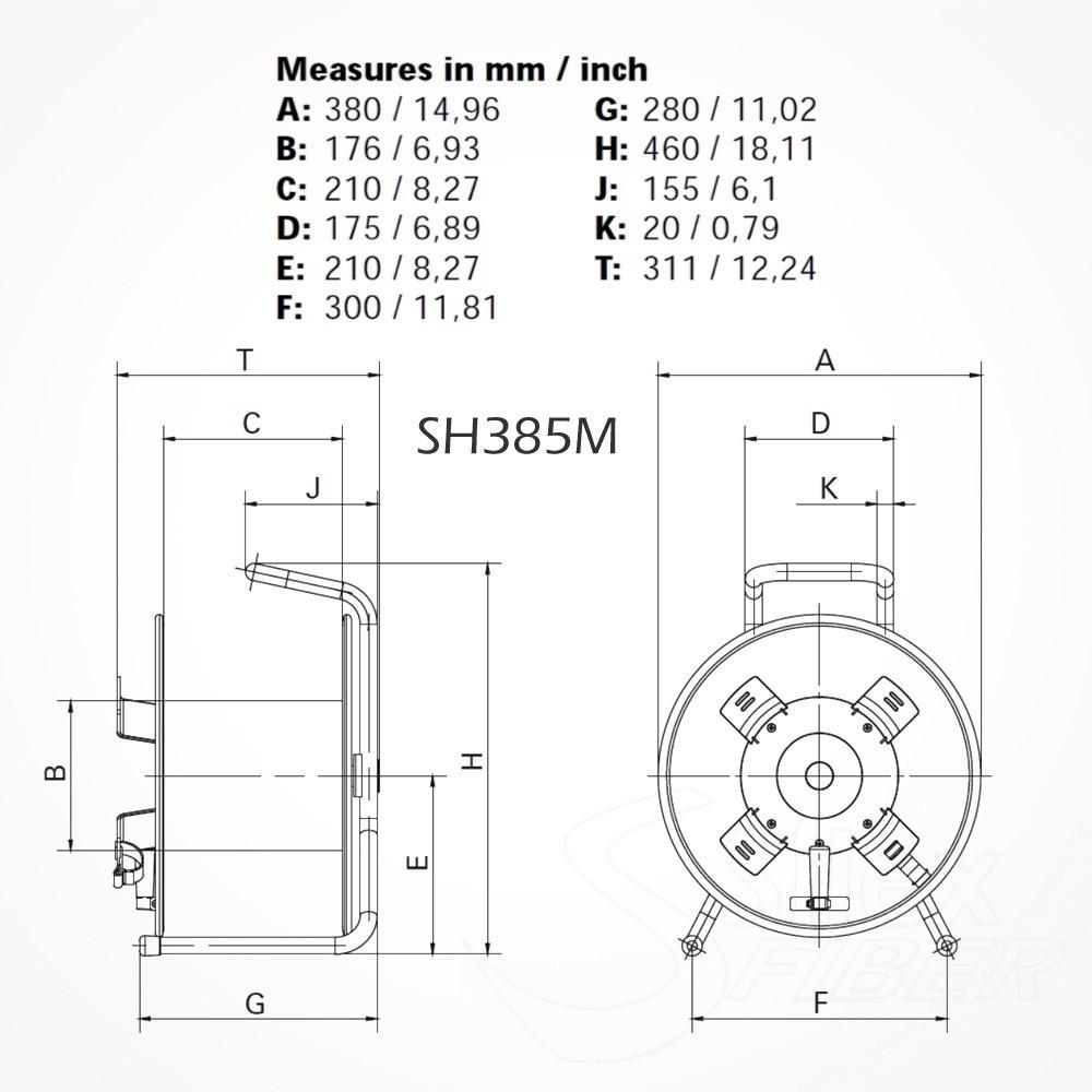 Roller Fibra Optica Metalico SH485M SMPTE LEMO 3K.93C