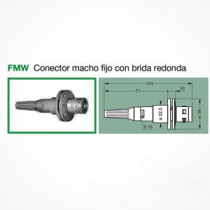 Conector LEMO 3K.93C Macho Fijo FMW