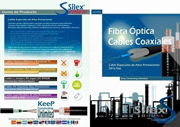 Nuevo Díptico: Fibra Óptica Cables Coaxiales Oil & Gas
