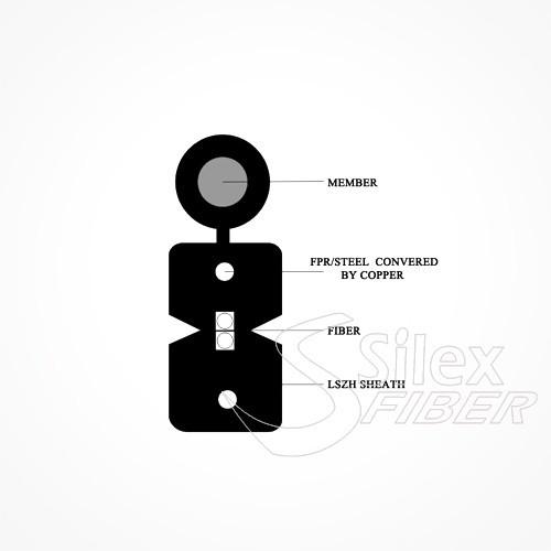 Cable Fibra Optica Dielectrico ADSS FLAT DROP Cod.SXW.09120601O