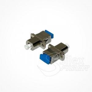 Adaptador hembra pasamuros LC-SC MM - SM Metalico