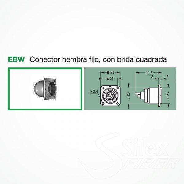 Conector LEMO 3K.93C Hembra Fijo EBW