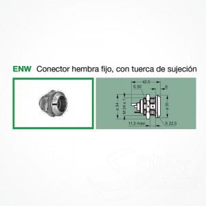 Conector LEMO 3K.93C Hembra Fijo ENW