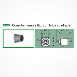 Conector LEMO 3K.93C Hembra Fijo EDW
