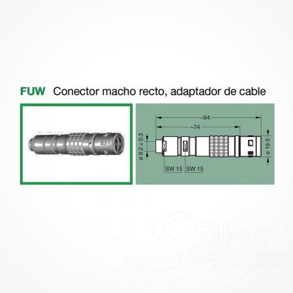 Conector LEMO 3K.93C Macho FUW