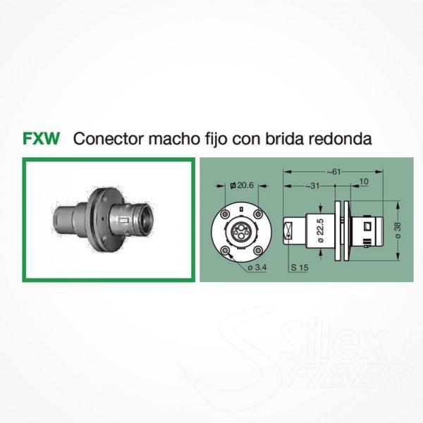 Conector LEMO 3K.93C Macho Fijo FXW