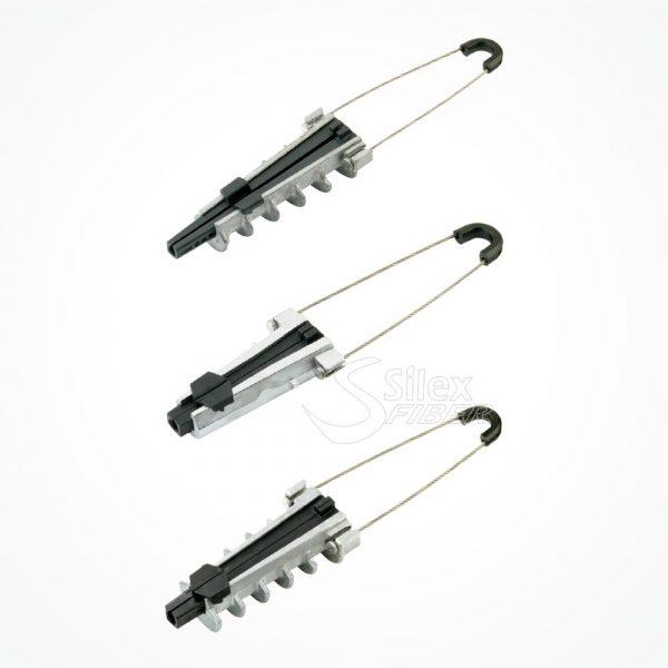 Pinza Anclaje Aluminio tendidos Aéreos SX