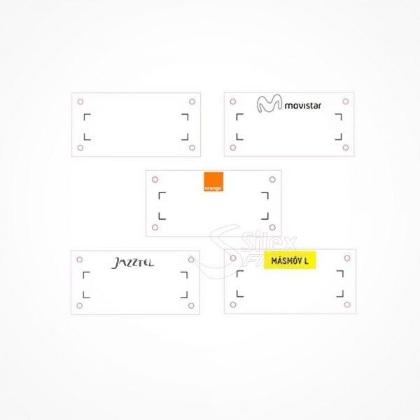 Etiquetas de señalizacion exterior Fibra Optica MINI 60x30mm