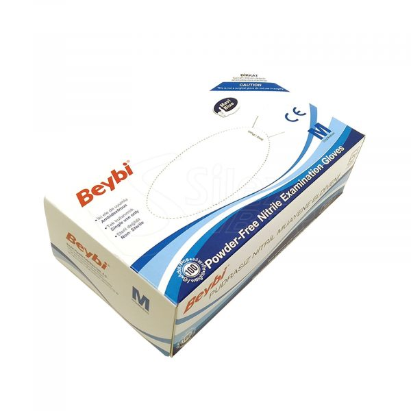 Guantes de Nitrilo RF05 Caja de 100pc Beybi Azul Talla S