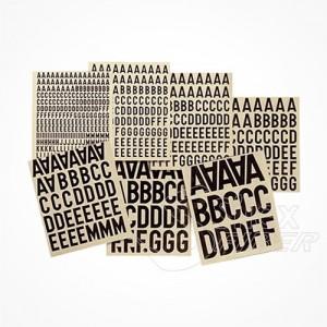 Letras adhesivas para cajas CTO 10x10 mm y 20x20mm