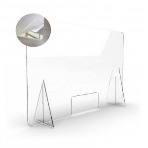 Mampara Metacrilato Transparente de Protección 100×70cm MMT107