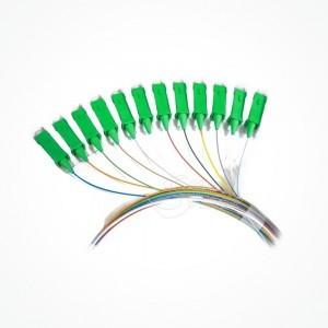 MultiPigtail 6, 8 y 12 Colores SC APC y UPC Monomodo 1,5 mts