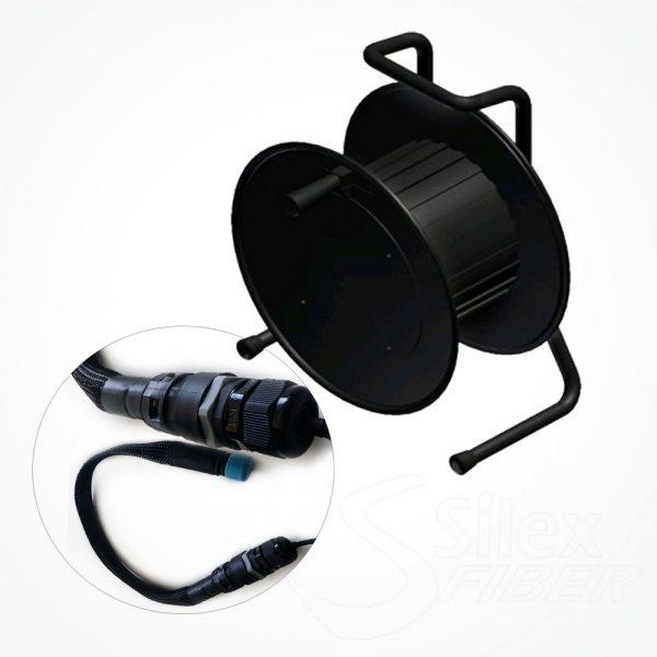 Enrollador Metalico Fibra Optica S300 Conectores   LC   SC   ST   LEMO   IP67