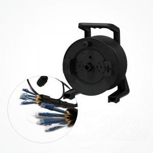 Enrollador Policarbonato Fibra Optica S235 Conectores LC/LC
