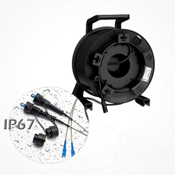 Enrollador Policarbonato Fibra Optica S312 Conectores LC/LC