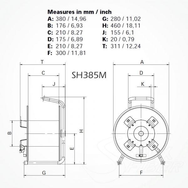 Roller Vacio SH385M para Fibra Optica