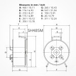 Roller Vacio SH485M para Fibra Optica