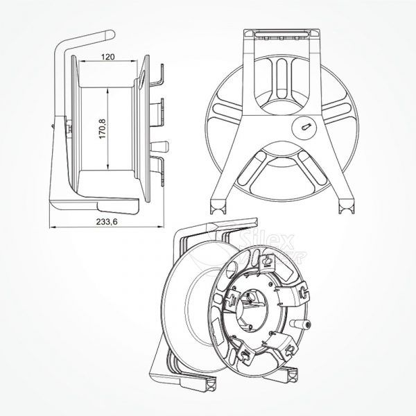 Roller Fibra Optica Policarbonato S312 CONIC SPL1