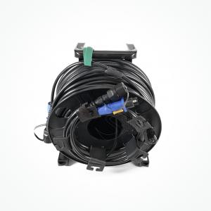 Enrollador Policarbonato Fibra Optica S380 Hydra híbrido fibra óptica + Energia