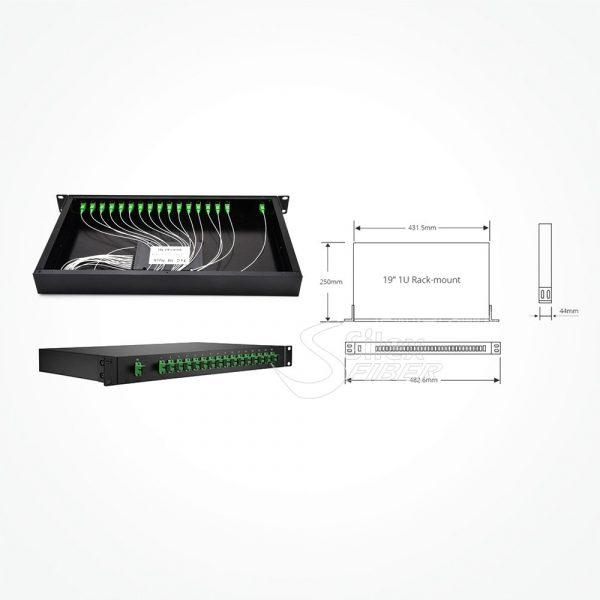 Divisor Splitter Optico PLC Rack 19
