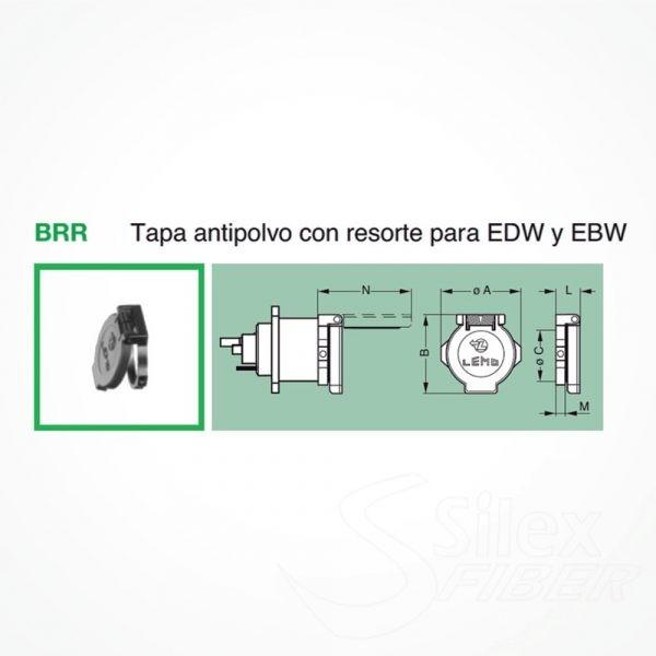 Tapa antipolvo BRR con resorte para EDW y EBW