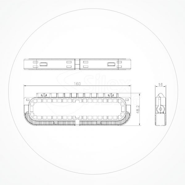 Torpedo Mini 160*48*16mm 1SC IP68 PFB-A-SK