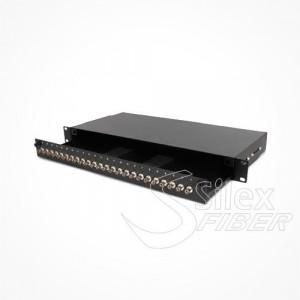 Panel de distribucion Fibra Optica 1U 24-48 ST SC FC LC