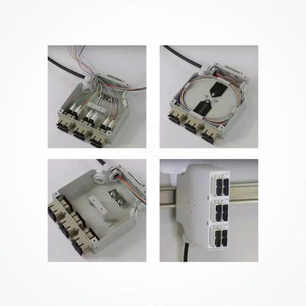 Caja Metalica carril DIN SIBOX 03A