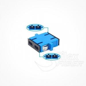 Adaptador hembra pasamuros Duplex SC APC y SC UPC