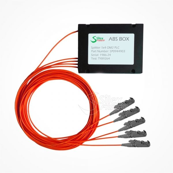Divisor Splitter Optico PLC Box ABS E2000 PC Multimodo