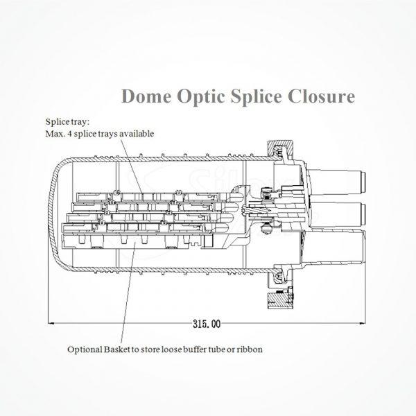Caja DOME Torpedo B IP68 hasta 24-96 FO SK M696C
